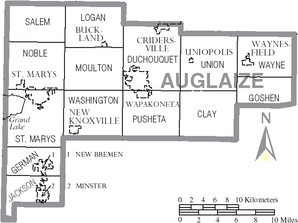 Map of Auglaize County Ohio With Municipal and Township Labels.PNG