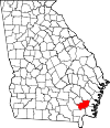 Map of Georgia highlighting Brantley County.svg