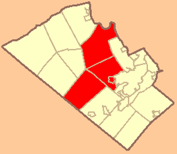 Map of Lehigh County, Pennsylvania with Parkland School District Highlighted.png