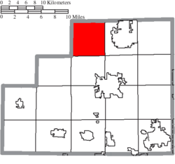 Location of Liverpool Township in Medina County