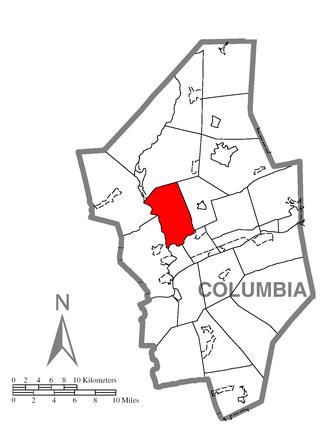 Mount Pleasant Township, Columbia County, Pennsylvania - Image: Map of Mount Pleasant Township, Columbia County, Pennsylvania Highlighted