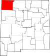 State map highlighting San Juan County