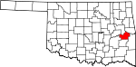 State map highlighting Haskell County