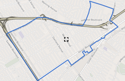"Palms boundaries as shown on ""Mapping L.A."" project of the Los Angeles Times"
