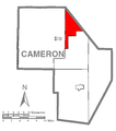 Map of Portage Township, Cameron County, Pennsylvania Highlighted.png