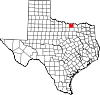 State map highlighting Cooke County