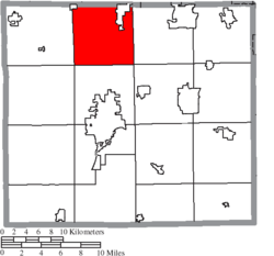 Location of Canaan Township in Wayne County