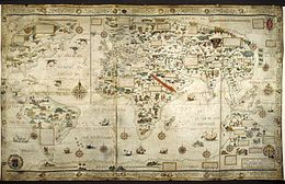 Map of the world - Pierre Desceliers, 1550 - BL Add MS 24065.jpg