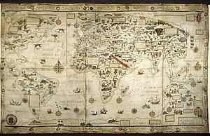Pierre Desceliers - World map finished in 1550 by Desceliers