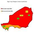 Mapa climático Köppen de Níger con nombres de las ciudades más significativas.jpg