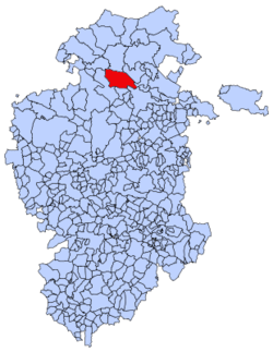 Municipal location of the Merindad de Valdivielso in Burgos province