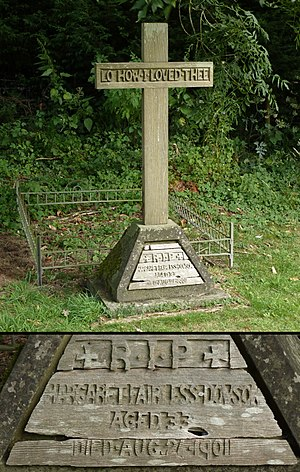 Margaret Barber - Margaret Barber's grave at St James' Church in Ashurst, West Sussex, photographed in 2014