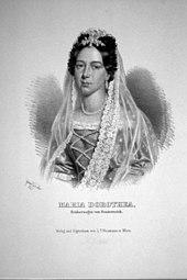 Maria Dorothea Prinzessin von Württemberg. Lithographie von Gabriel Decker, 1840. (Quelle: Wikimedia)
