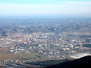 Maribor from Pohorje