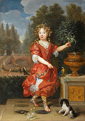 A young Mademoiselle de Blois, Marie-Anne de Bourbon, daughter of Louis XIV and Louise de La Vallière
