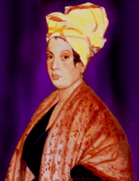 Portrait of Marie Laveau, allegedly d. 1888.