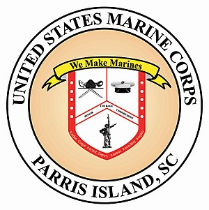 Marine Corps Recruit Depot Parris Island - Image: Marine Corps Recruit Depot, Parris Island logo