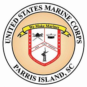 Marine Corps Recruit Depot Parris Island - Image: Marine Corps Recruit Depot, Parris Island logo