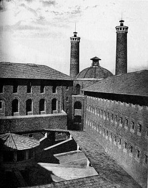Français : Intérieur de la prison de la Santé,...