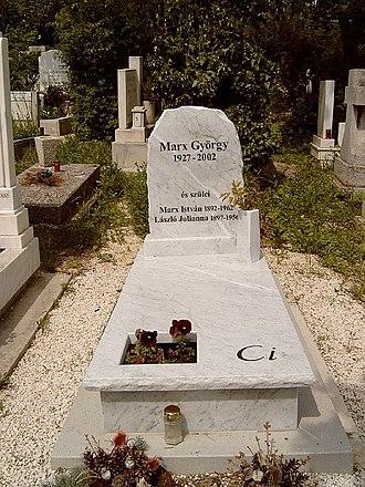 György Marx - The tomb of György Marx and his parents in the Farkasréti Cemetery (30/2-1-3.)
