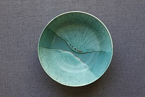 Mary Tuthill Lindheim - Image: Mary Tuthill Lindheim bowl with carnelians inset in glaze
