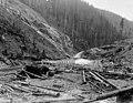 Masonry dam site, cofferdam looking downstream, Washington, December 12, 1911 (INDOCC 1788).jpg