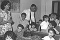 Masud Kassis visits an arab elementary school class, July 1958 D300-092.jpg