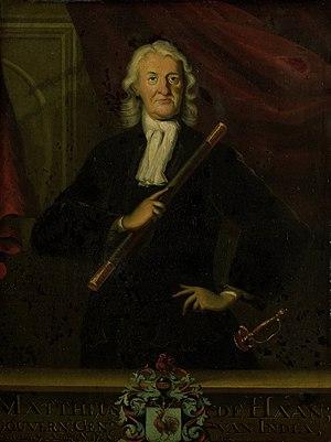 Mattheus de Haan - Image: Mattheus de Haan (1663 1729). Gouverneur generaal (1725 29) Rijksmuseum SK A 4543