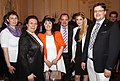 Matthias Laurenz Gräff received together with the Greek Ambassadress of Vienna, Mrs. Chryssoula Aliferi, the Greek Eurovision Song Contest Singer Maria Kiryakou.JPG