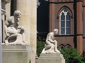 Herman Matzen - Cain and Abel, Lake County Courthouse, Painesville, Ohio