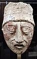 Maya (nord del petén, messico), testa d'uomo, stucco, periodo classico recente, 600-800 dc ca.jpg