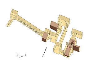 Northern Mazghuna pyramid - Plan of the hypogeum