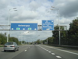 A1 in Höhe Mechelen