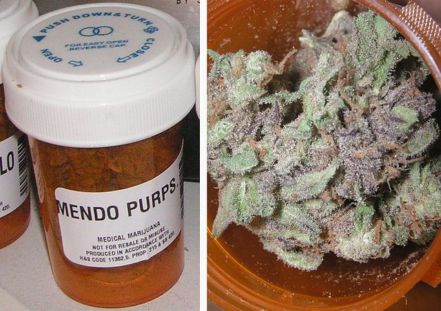 Medical marijuana by Medical.jpg: Coaster420Purple_Goo.jpg: Coaster420derivative work: Agent Agent [Public domain], via Wikimedia Commons