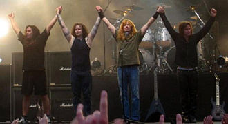 Megadeth - Megadeth's 2004–2006 lineup: Shawn Drover, James MacDonough, Dave Mustaine, and Glen Drover