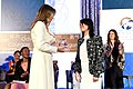 Melania Trump presents the 2017 International Women of Courage Award to Saadet Ozkan (1).jpg