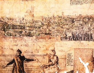 History of Istanbul - Melchior Lorck - The Prospect of Constantinople (16th century)