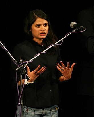 Melonie Diaz - Diaz introducing the film Be Kind Rewind at the 2008 Karlovy Vary International Film Festival