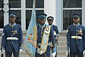 Members of the Kofi Annan International Peacekeeping Training Center honor guard stand in formation during a welcoming ceremony for Ivory Coast Gen. Soumaila Bakayoko, the Economic Community of West African 130626-A-ZZ999-015.jpg