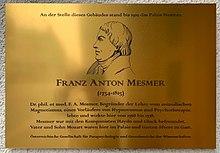 Gedenktafel an der Stelle des Palais Mesmer in der Rasumofskygasse 29 in Wien-Landstraße (Quelle: Wikimedia)