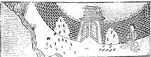 Lady Meng Jiang - Lady Meng Jiang weeps at the Great Wall (Southern Song illustration for Biographies of Exemplary Women)