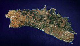 Image satellite de Minorque.