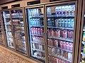 Meny supermarket Tønsberg Norway melk melkeprodukter Tine Q Styrk lettmelk i kjøleskap med glassdør glass door refrigerator chiller showcase 2017-09-20 02.jpg