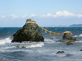 Panpsychism - Two iwakura — a rock where a kami or spirit is said to reside in the religion of Shinto.