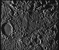 """The so-called """"Weird Terrain"""" was formed by the Caloris Basin impact at its antipodal point."""