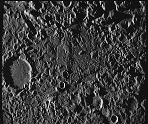 "Geology of solar terrestrial planets - The so-called ""Weird Terrain"" was formed by the Caloris Basin impact at its antipodal point."