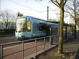 Saint-Étienne-du-Rouvray - The tramway at the Technopôle terminus
