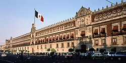 The National Palace, the seat of the federal executive in Mexico