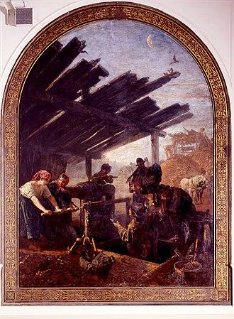 Paul Friedrich Meyerheim - Image: Meyer lok gewinnung des erzes