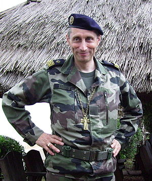 Battledress - Bishop in the French Army pictured in 2008 wearing camouflage uniform.